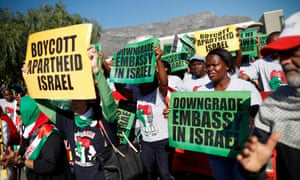 Anti-Israel protest in Cape Town, South Africa on 15 May 2018