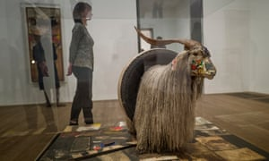 Stunning … the stuffed goat with tyre at the Tate.