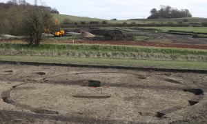 An iron age roundhouse revealed by archaeologists at the site near Wittenham Clumps.