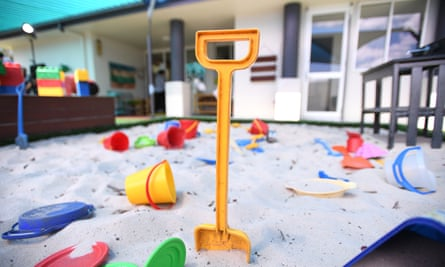 A sandpit at a Brisbane childcare centre