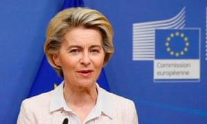 The European commission's president, Ursula von der Leyen,