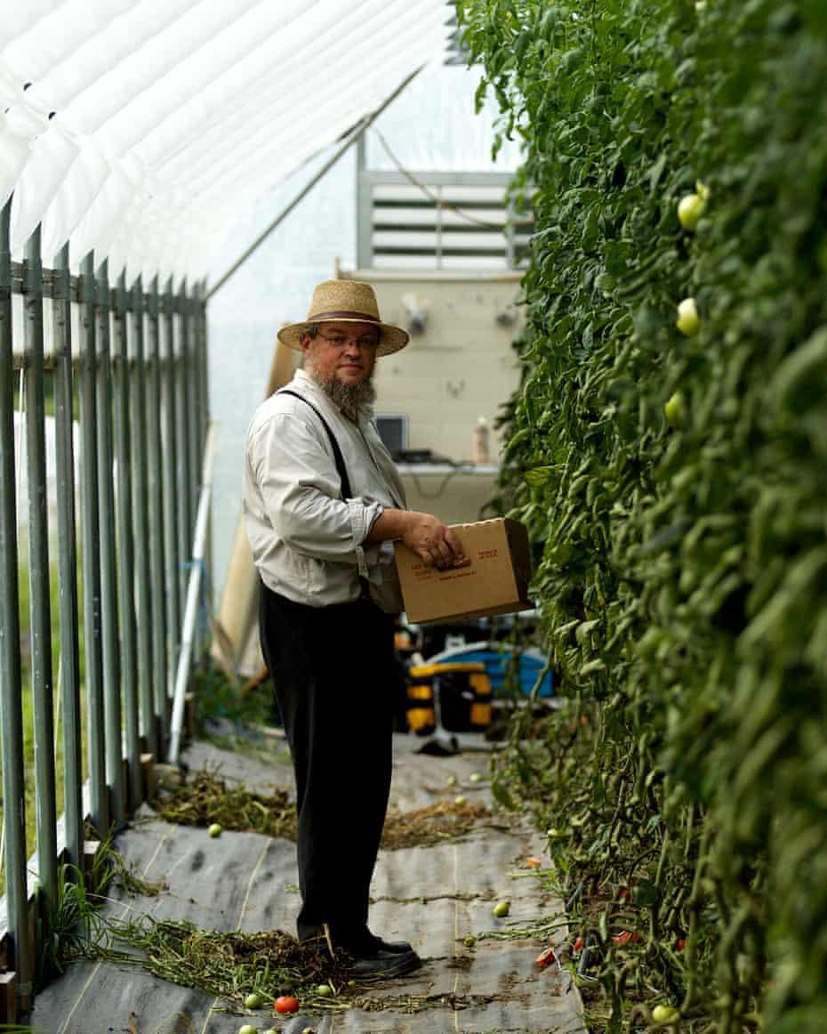 Daniel Weaver on his farm