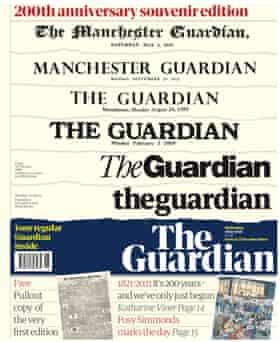 صفحه اول یادگاری یادبود 200 سالگی گاردین