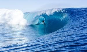 Bethany Hamilton takes on the crunching waves at Teahupoo in Tahiti