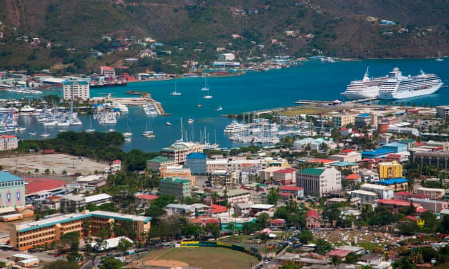 Road Town, the capital of the British Virgin Islands.