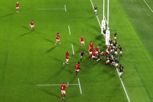 Matt Heaton goes over for Canada's first try.