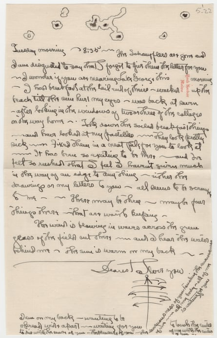 One of Georgia O'Keeffe's letters to Alfred Stieglitz in 1922.