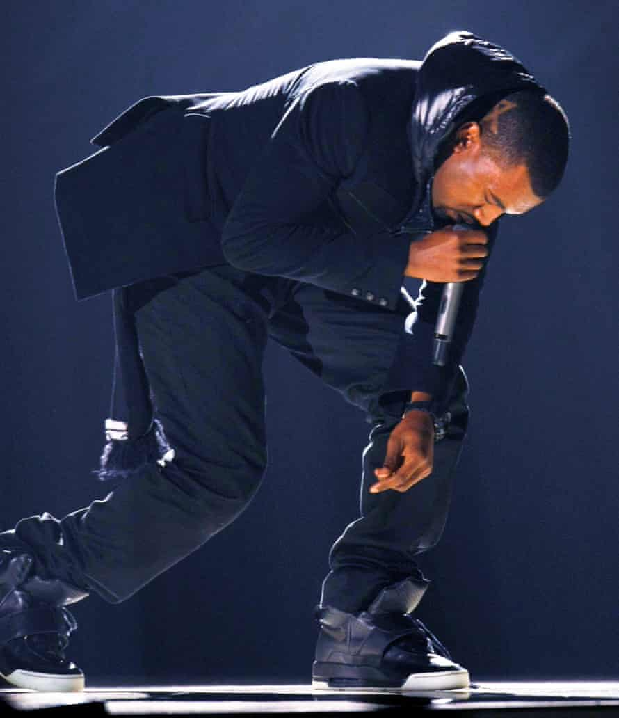 Kanye West performs at the 50th Annual Grammy Awards in Los Angeles on 10 February 2008.