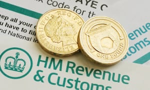 HMRC forms with coins