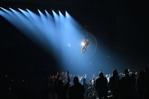 Lady Gaga performs a show in Las Vegas