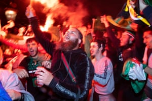 Algeria fans who gathered at Finsbury Park and Trafalgar Square in London to celebrate after their country won the Africa Cup of Nations