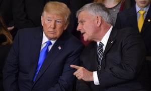 Franklin Graham with Donald Trump in 2018.