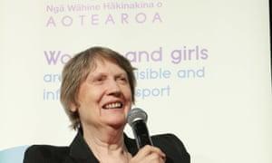 Former New Zealand prime minister Helen Clark speaks about women's participation in sport.