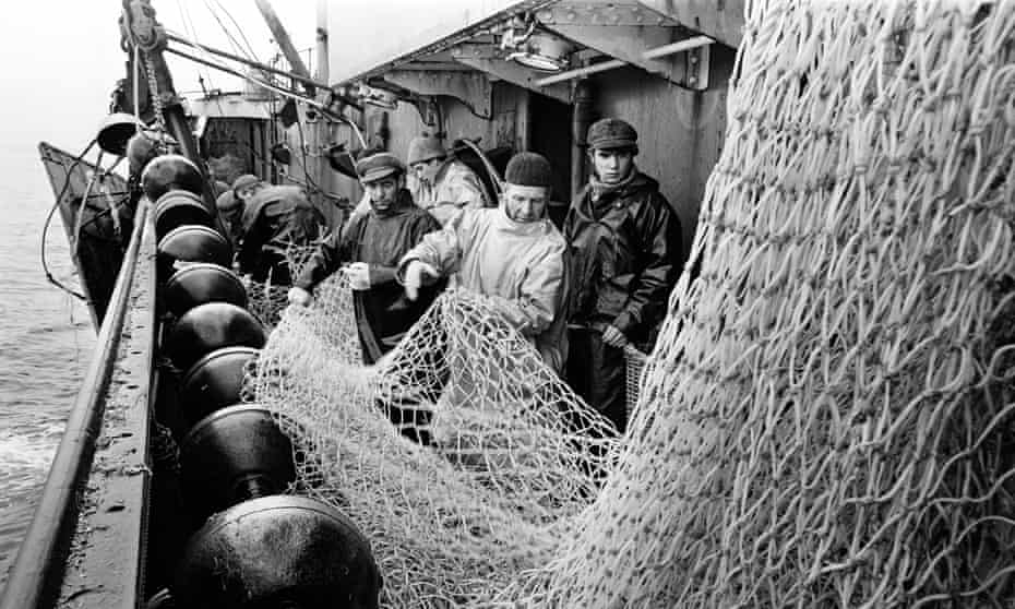 Aboard Hull trawler Ross Orion in the fishing grounds off Greenland in 1967.