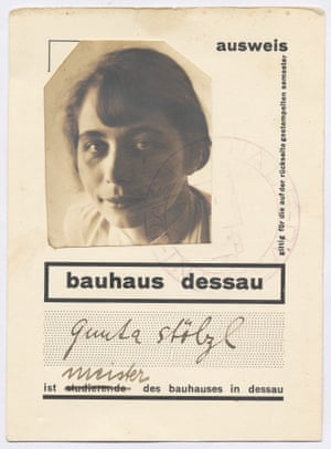 The Bauhaus identity card of Gunta Stölzl, 1928. Stölzl was the first woman to be granted the title of 'master of the bauhaus in dessau'. She took on the overall direction of the weaving workshop from April 1927