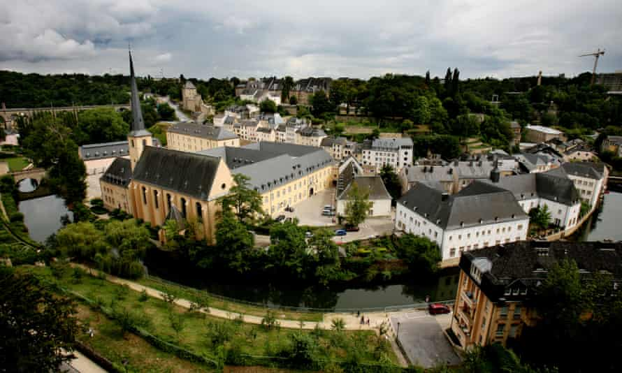 The old quarter of the capital of Luxembourg