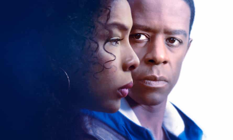 Sophie Okonedo and Adrian Lester in Undercover.