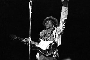 'Not on my network' … Hendrix on stage at the festival in June 1967.