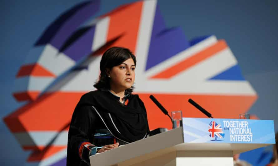 Former Conservative party chair Sayeeda Warsi in 2010.