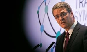 The WTO director general, Roberto Azevêdo