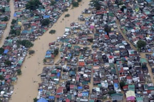 Authorities mounted several rescue operations as tens of thousands of homes were submerged. Flights and mass transit in Manila were suspended, as well as work in government offices