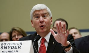 Michigan Governor Rick Snyder testifies before a House Oversight and Government Reform hearing on about the Flint crisis on Capitol Hill in Washington in 2016.