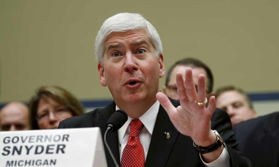 Rick Snyder was governor when state-appointed managers in Flint switched the city's water to the Flint River in 2014 as a cost-saving step.