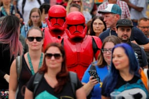 San Diego, US Visitors arrive in costume for the opening night of the Comic Con International in California