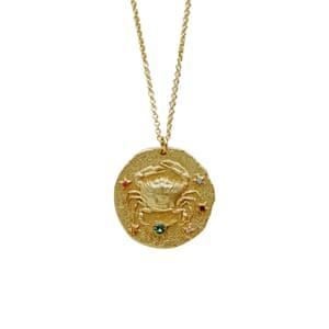 Cancer necklace with gems, £59, uk.maje.com