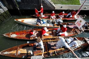 Officials prepare to sail looking for cygnets and swans