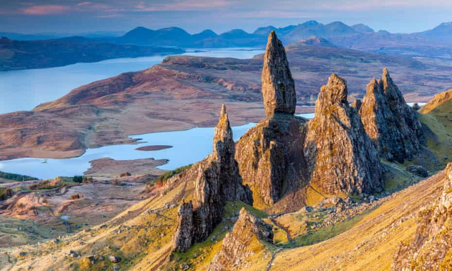 Treasure island: looking across to Raasay from the Old Man of Storr on the Isle of Skye.