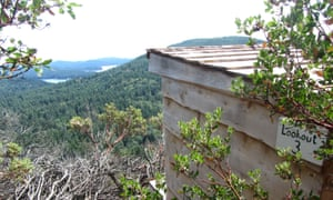 The shelter and view over the Southern Gulf islands in Galiano, Canada.