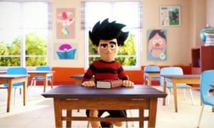 Dennis tries to study