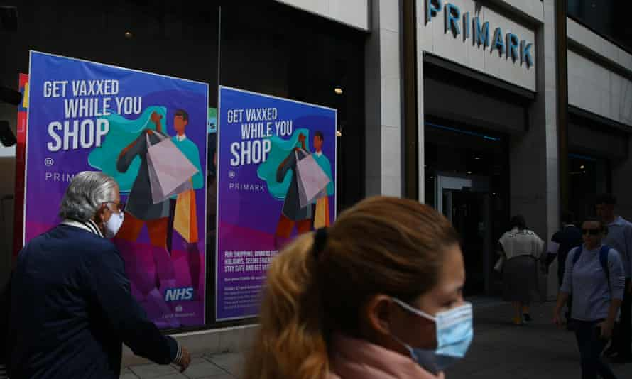 Primark on Oxford Street in London is offering Covid vaccinations over the bank holiday weekend.