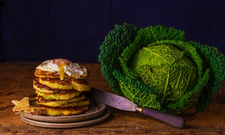 Italy's answer to bubble and squeak: Savoy pancakes.