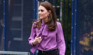 Kate, Duchess of Cambridge, in her back-fastening blouse.