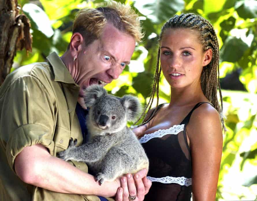 Lydon  with Katie Price during his appearance on I'm a Celebrity… in 2004.