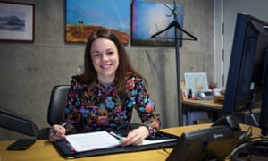 Finance Secretary Kate Forbes preparing her speech in her office in Holyrood, Edinburgh, ahead of delivering the Scottish Budget to the Scottish Parliament on Thursday.