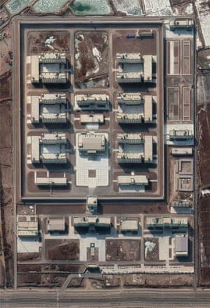 Satellite imagery of the new facility near Kashgar in January 2020.