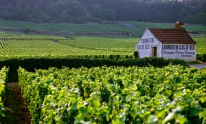 Chambertin Clos de Beze Grand Cru vineyard with the name painted on a small farm house owned by Pierre Damoy