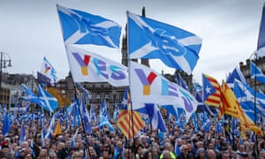 Supporters of Scottish independence stage a rally in George Square, Glasgow