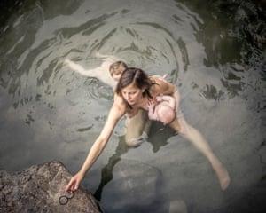 Jennifer, Lur, and Emile, Warm Spring Creek, Idaho. by Matthew Hamon