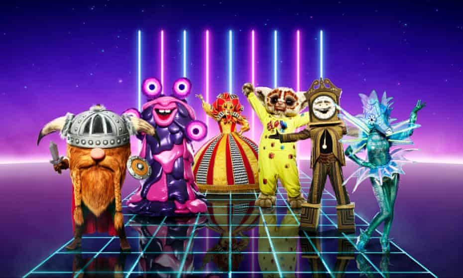 Some of the characters on series two of ITV's The Masked Singer.