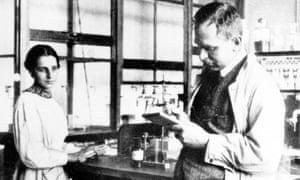 Lise Meitner with Otto Hahn at Kaiser Wilhelm Institute for Chemistry in Berlin, c1935.