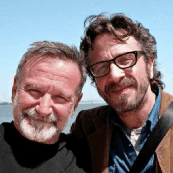Maron with Robin Williams in 2010.