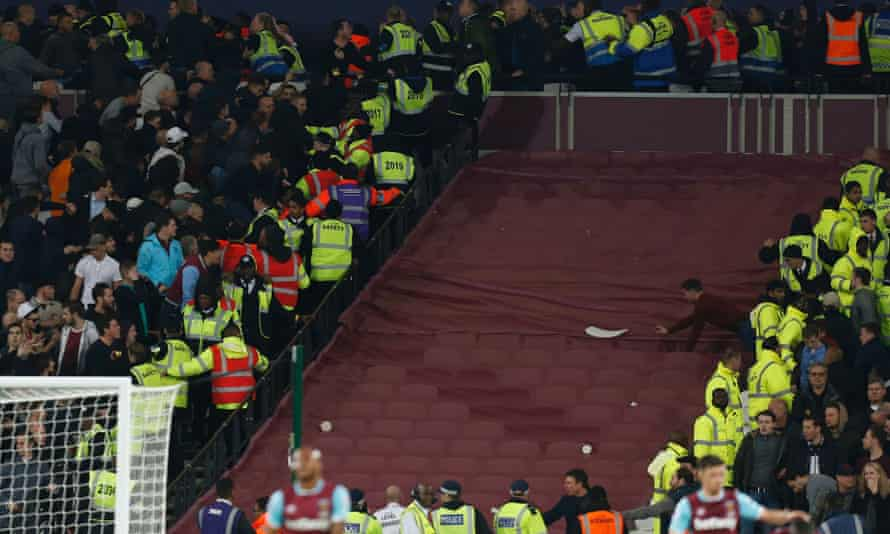 Ugly scenes marred the League Cup tie with Chelsea in October, despite West Ham's 2-1 win over their London rivals.