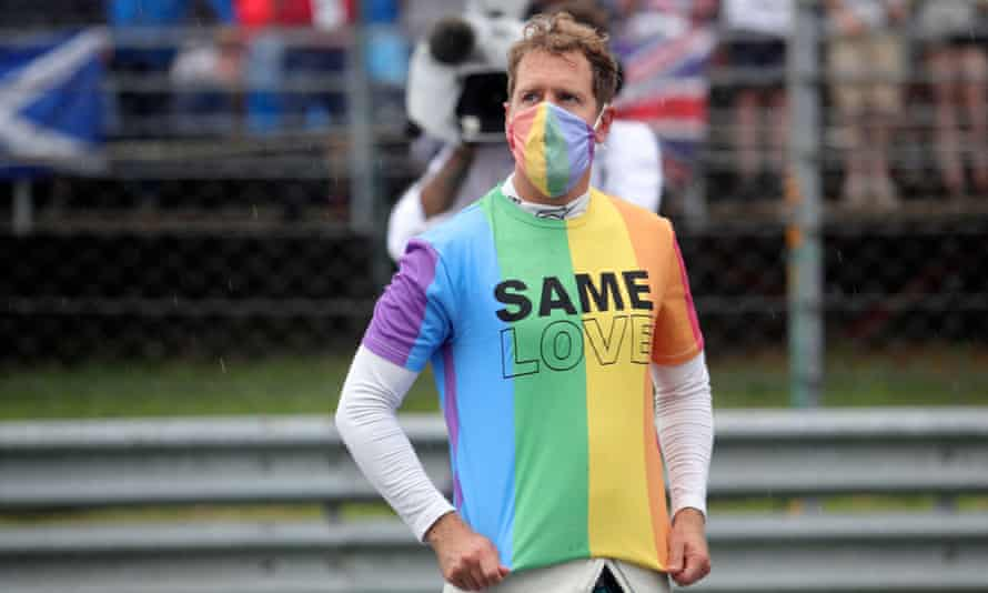 Sebastian Vettel wore a T-shirt in support of the LGBTQ+ community in Hungary
