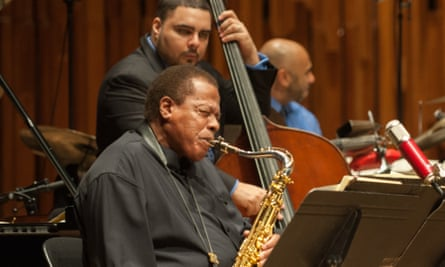 Wayne Shorter with the JLCO at the Barbican on Thursday.