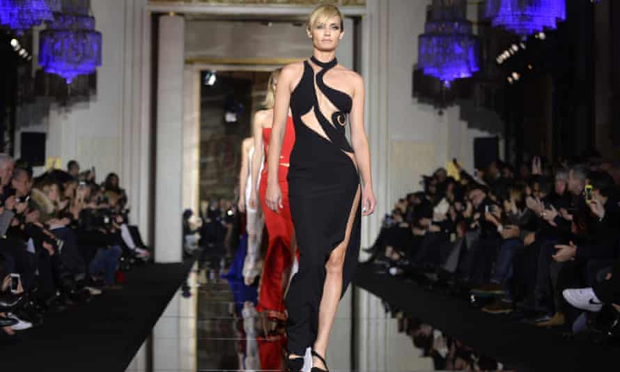Versace's spring-summer 2015 collection on show in Paris