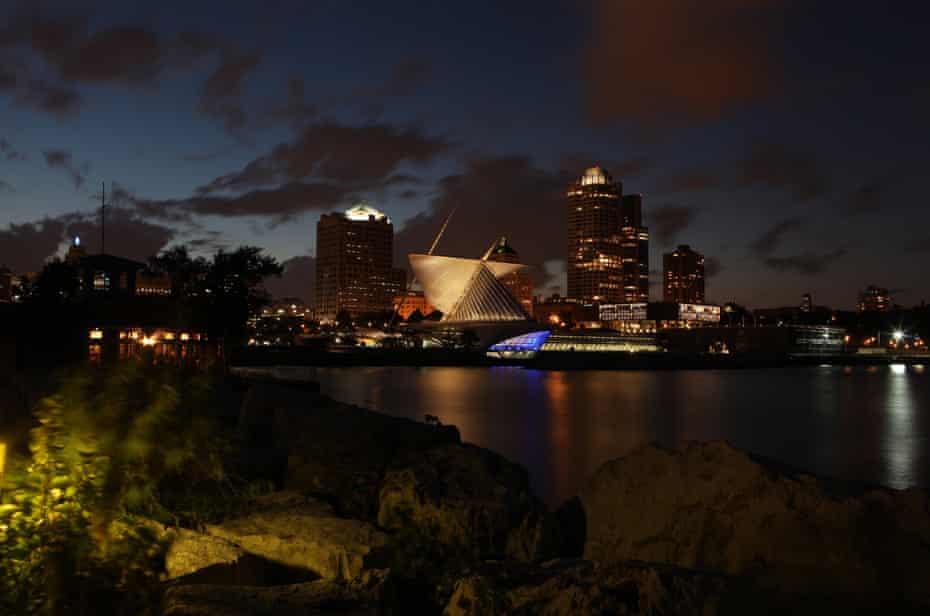 Milwaukee at night.